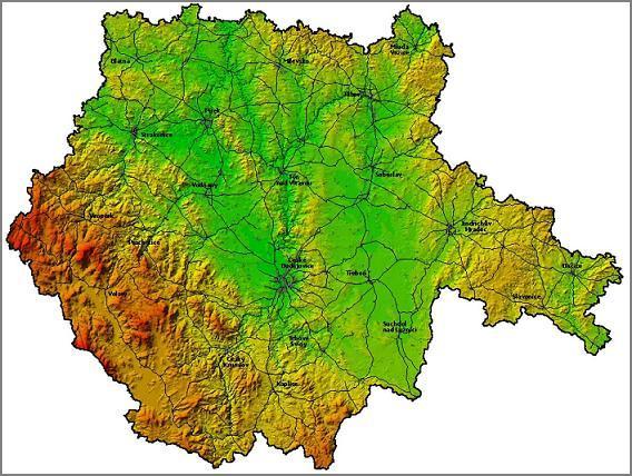 Mapa Geograficka Mapa Prahy